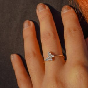 The Cubic Zirconia Butterfly Ring