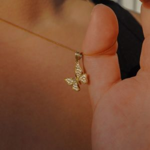 THE CZ BUTTERFLY PENDANT