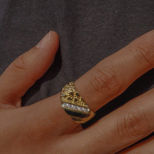 The Onyx Nugget Ring